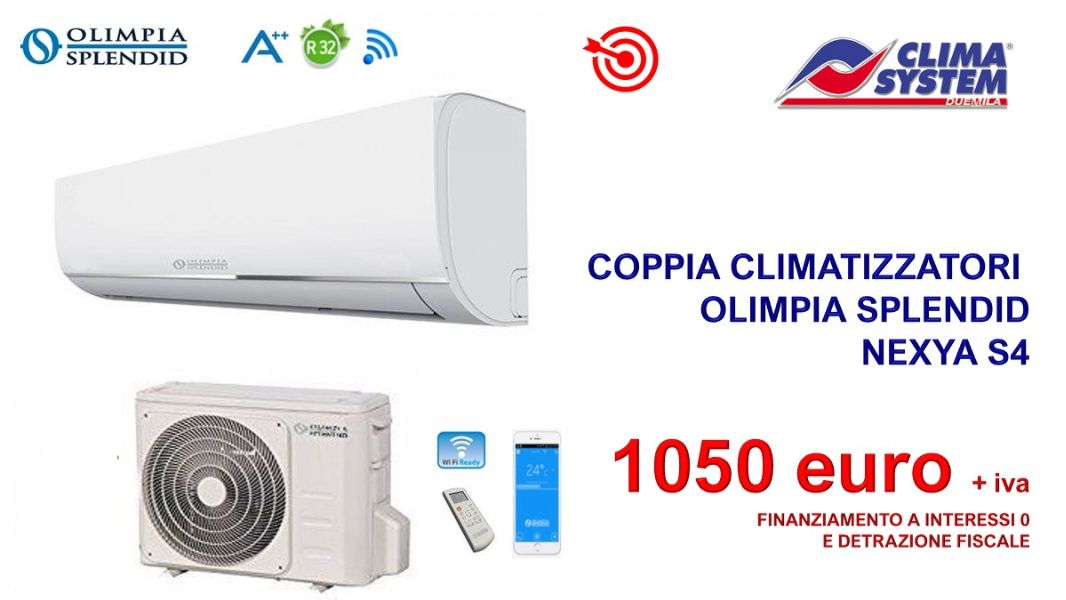 coppia-climatizzatori-olimpia-splendid-nexya-s4-new-model-2021-9000-e-12000-btu
